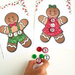 gingerbread theme cvc word building activity with buttons