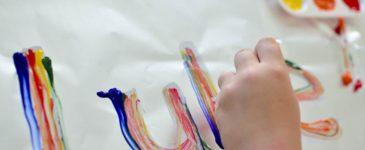 Rainbow Name Tracing Art Activity