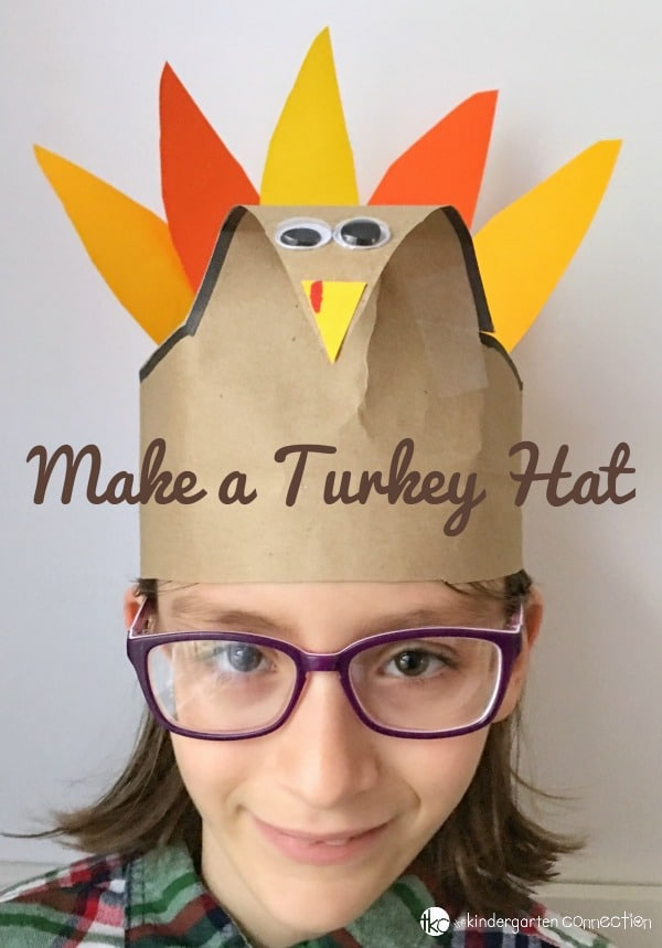 This turkey hat craft is so festive and lots of fun to make! This would be a great Thanksgiving party craft for the classroom or home.