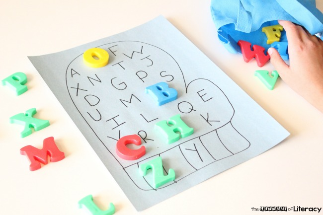 This easy-prep alphabet match mitten activity is perfect for winter literacy centers and makes a fun learning extension for The Mitten, too!