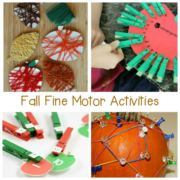 Boost children's pre-writing skills and let them learn hands-on at the same time with these fun fall fine motor activities!