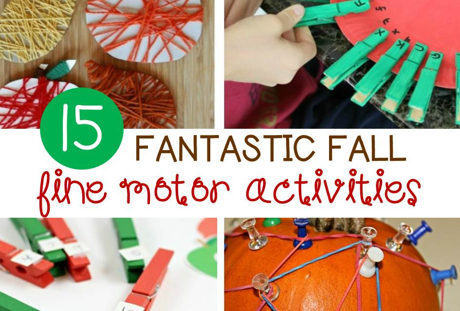 Fall Fine Motor Activities for Kids