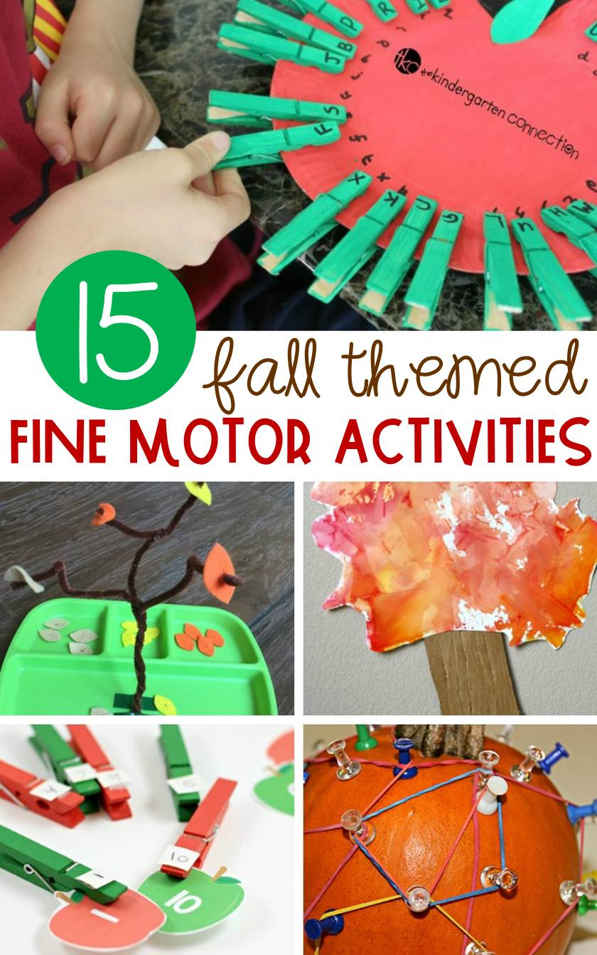 Boost children's pre-writing skills and let them learn hands-on at the same time with these fun fall themed fine motor activities!