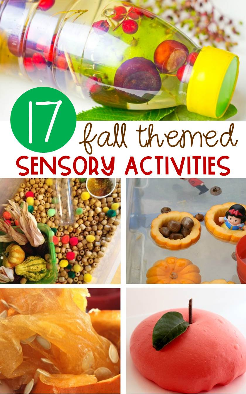 These fall sensory activities are perfect for preschoolers and kindergarten kiddos. They would be so fun for a classroom sensory bin this fall!