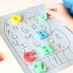 Alphabet Match Mitten Activity