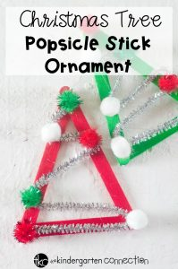 Christmas Tree Popsicle Stick Ornament