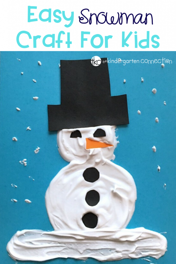 These puffy paint snowman portraits are perfect for celebrating the winter season with a fun snowman craft! Decorate winter bulletin boards with adorable snowman art! #snowmancraft #puffypaint #artforkids #winteractivity