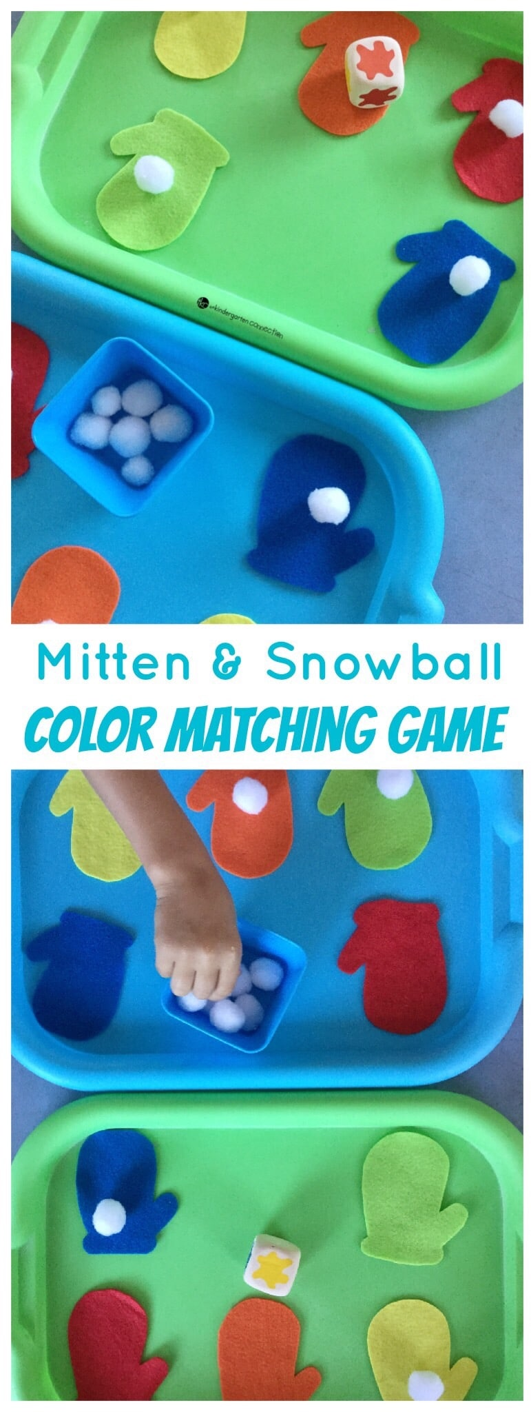 Play this fun, hands-on mitten and snowball color matching game with your kids this winter! It's a fun center to add to your preschool winter lesson plans!