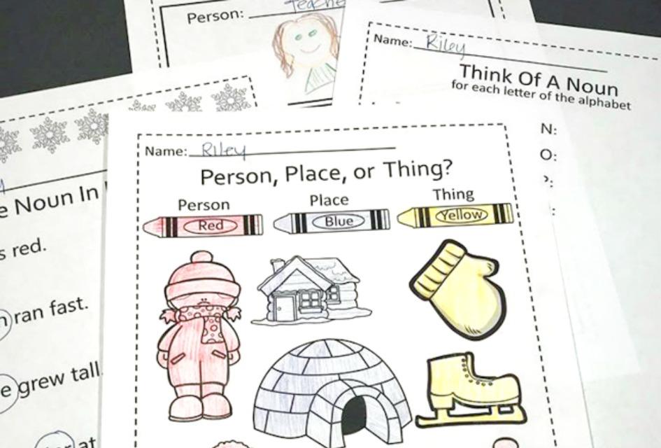 Printable Nouns Activities
