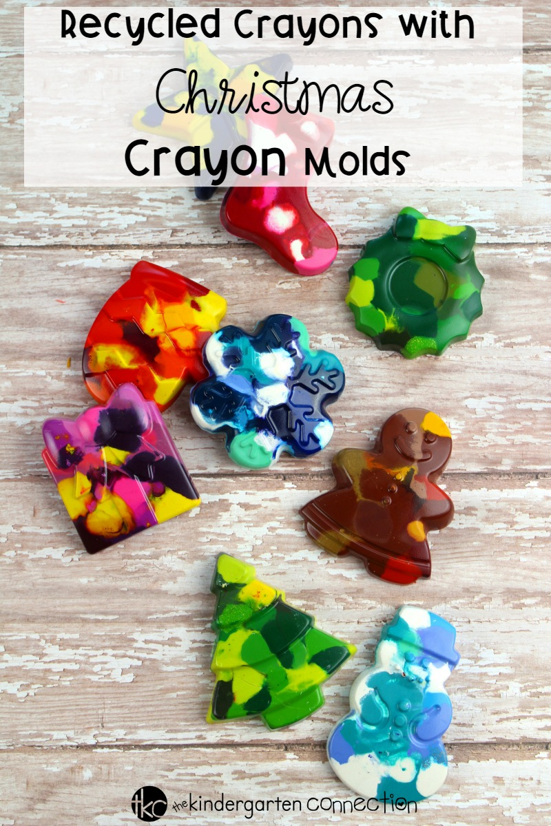 Try this Recycled Crayons with Christmas Crayon Molds activity with your children and create beautiful Christmas coloring pages this holiday season!