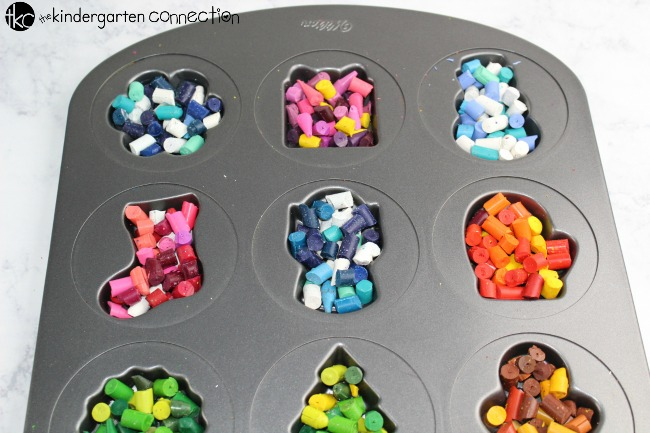 Try this Recycled Crayons with Christmas Crayon Molds activity with your children and create beautiful Christmas coloring pages this holiday season! They will love the fun, unique, and useful final product!