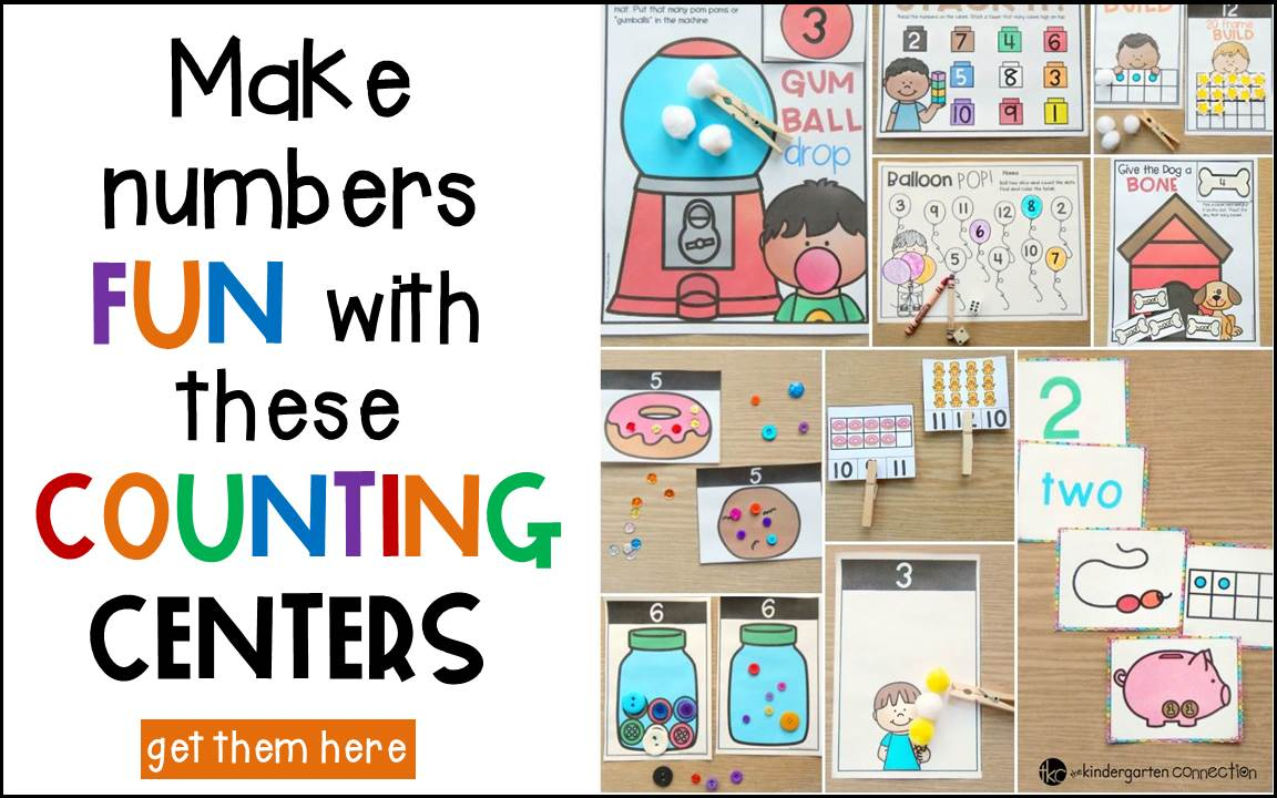Awesome Counting Centers for Pre-K and Kindergarten!