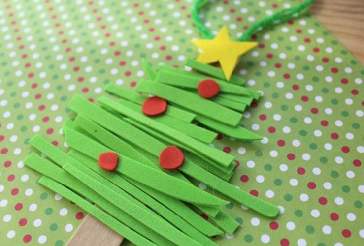 Foam Christmas Tree Kids Ornament