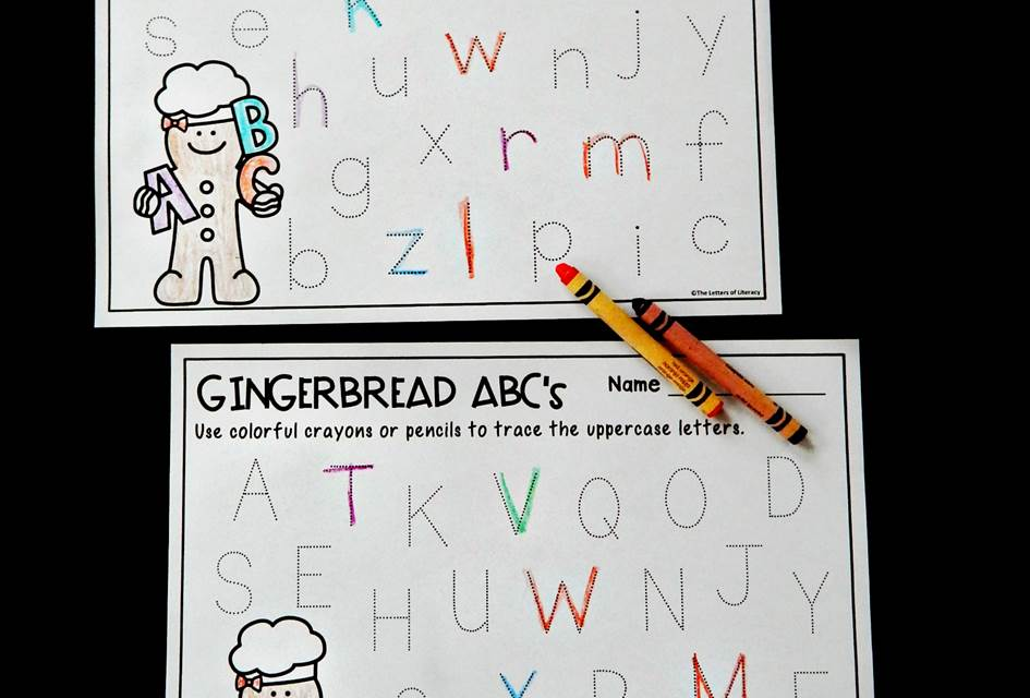 Letter Tracing Gingerbread Printables