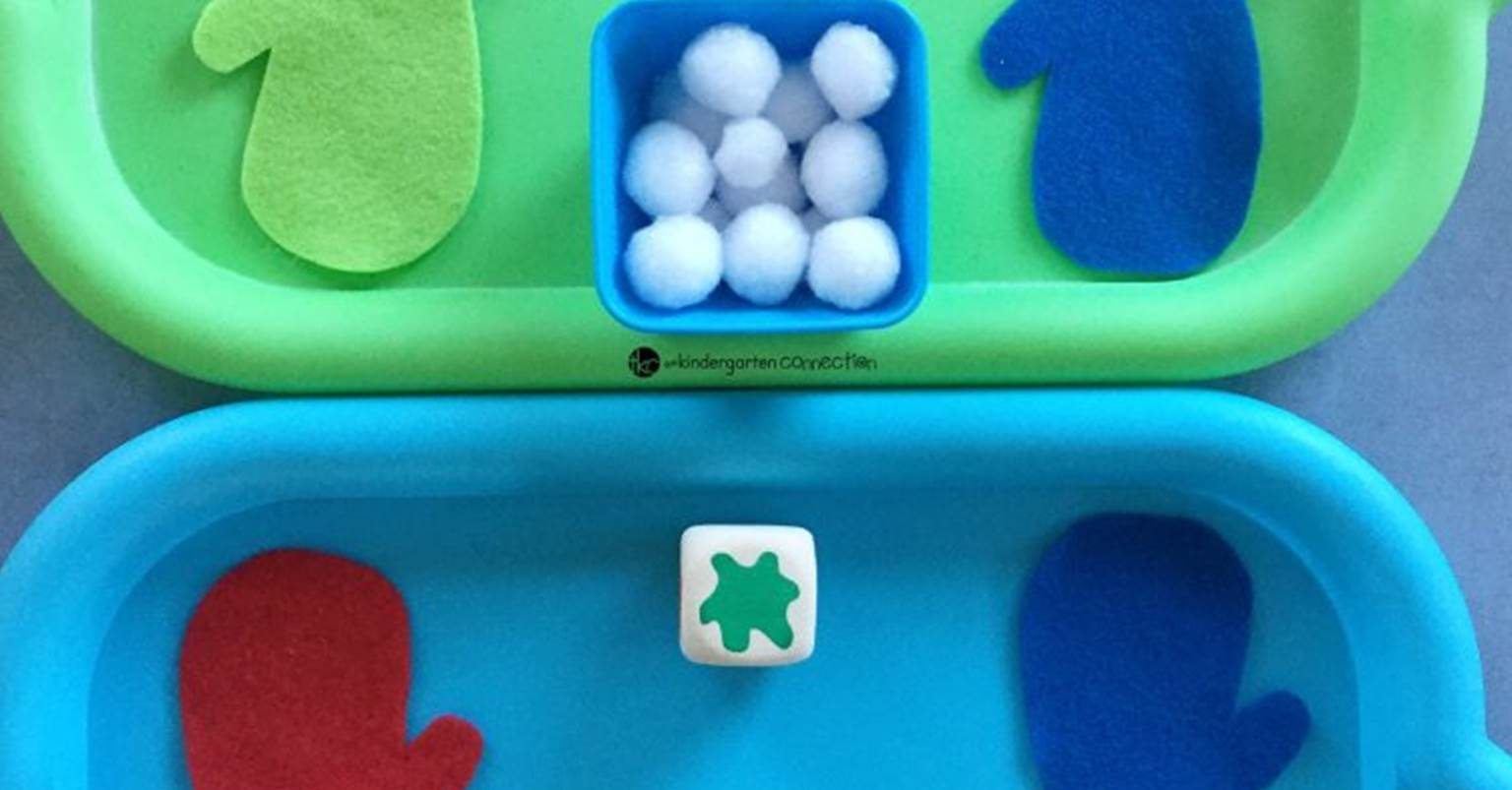 Mitten and Snowball Color Matching Game