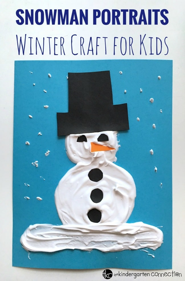 These puffy paint snowman portraits are perfect for celebrating the winter season with a fun snowman craft! Decorate winter bulletin boards with adorable snowman art!