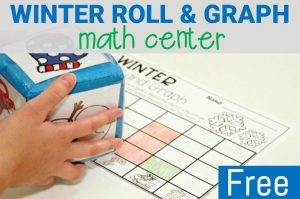 winter roll and graph math activity