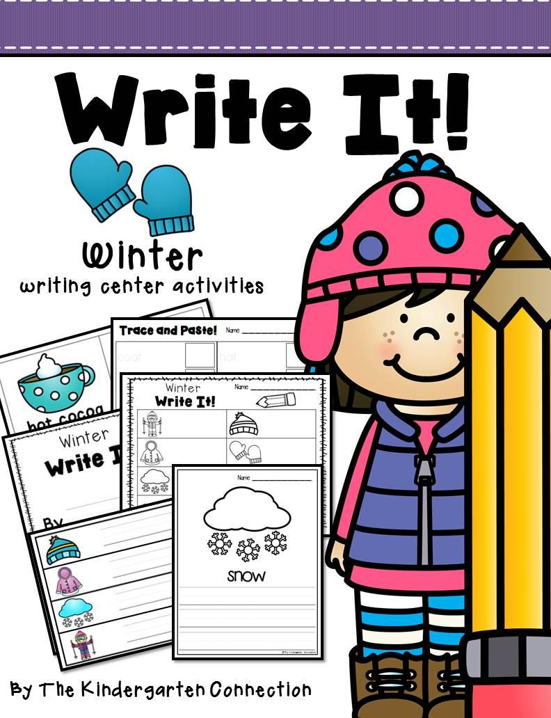 Winter Writing Center Printables