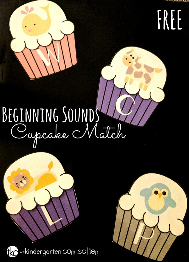 This animal-themed beginning sounds cupcake match is such a fun, free printable literacy center for Pre-K and Kindergarten to work on letters and sounds!