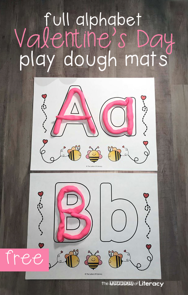 Have fun learning the alphabet this Valentine's Day with these fun, hands-on Valentine play dough mats! They are perfect for Preschool, Pre-K and Kindergarten classrooms for an engaging Valentine's Day literacy center.