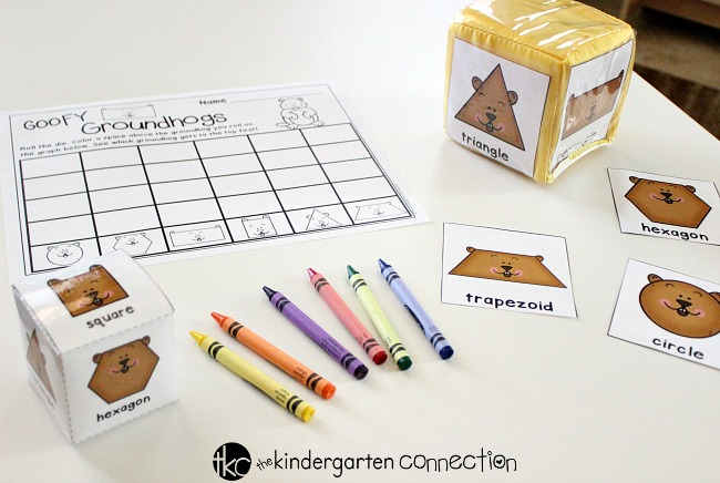 Your children will have a blast with this FREE roll and graph Groundhog Day Activity! This winter, place this graphing printable in your math center!