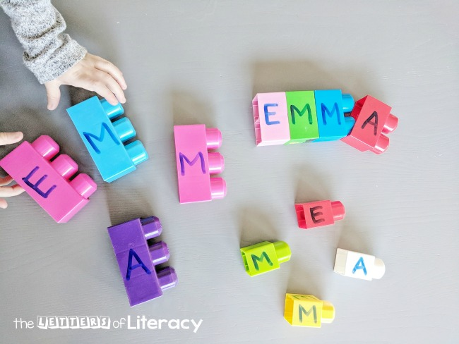 name spelling with blocks