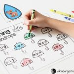 Raindrop CVC Matching Activity FREE printable