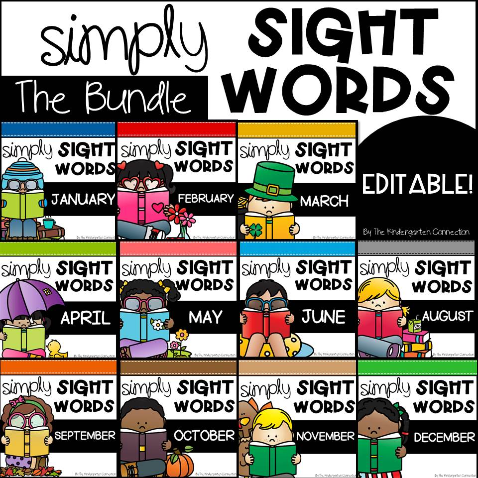 Editable Sight Word Centers for the year!
