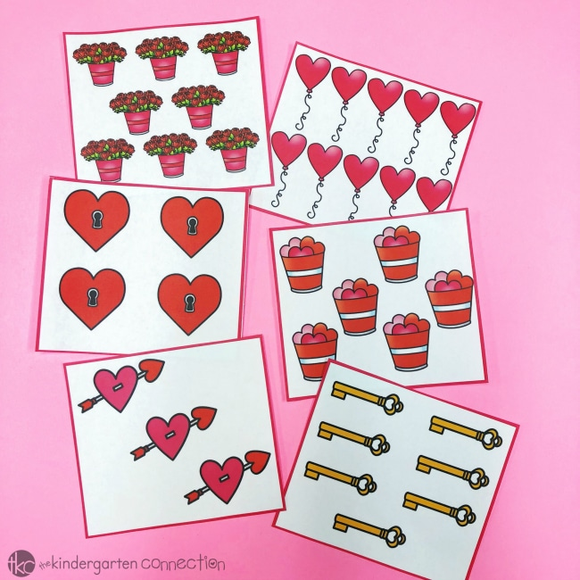 This free Valentine's Day Count the Room is ideal for math centers, a whole group math activity, or as a review to get kids moving, counting, and having FUN!