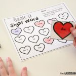 Valentine Seek a Sight Word Editable Activity