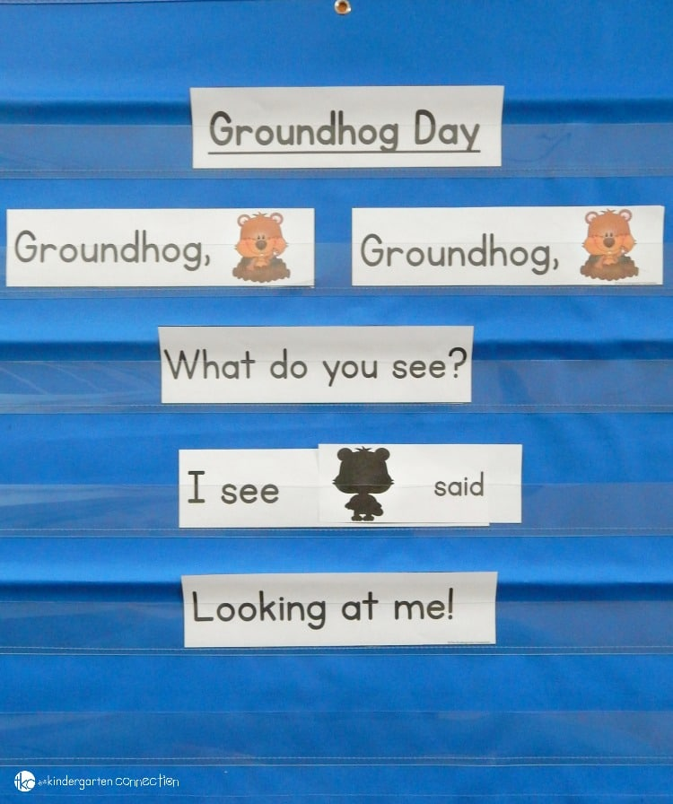 This fun Groundhog Day pocket chart poem is EDITABLE so you can change the sight words!