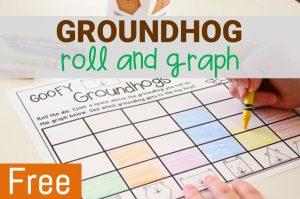 groundhog roll and graph math activity