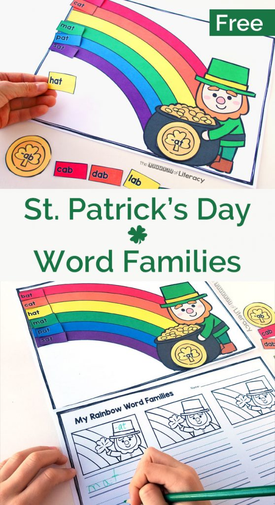 St. Patrick's Day Word Family Printable for Kindergarten!