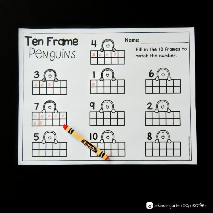 photo regarding Ten Frames Printable referred to as Cost-free Wintertime-Themed Penguin 10 Body Printable