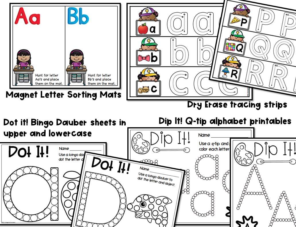alphabet centers and activities for pre k and kindergarten. Black Bedroom Furniture Sets. Home Design Ideas