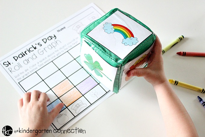 Roll and Graph FREE printable St. Patrick's Day Math Activity