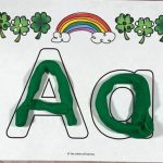 St. Patrick's Day Play Dough Alphabet Mats