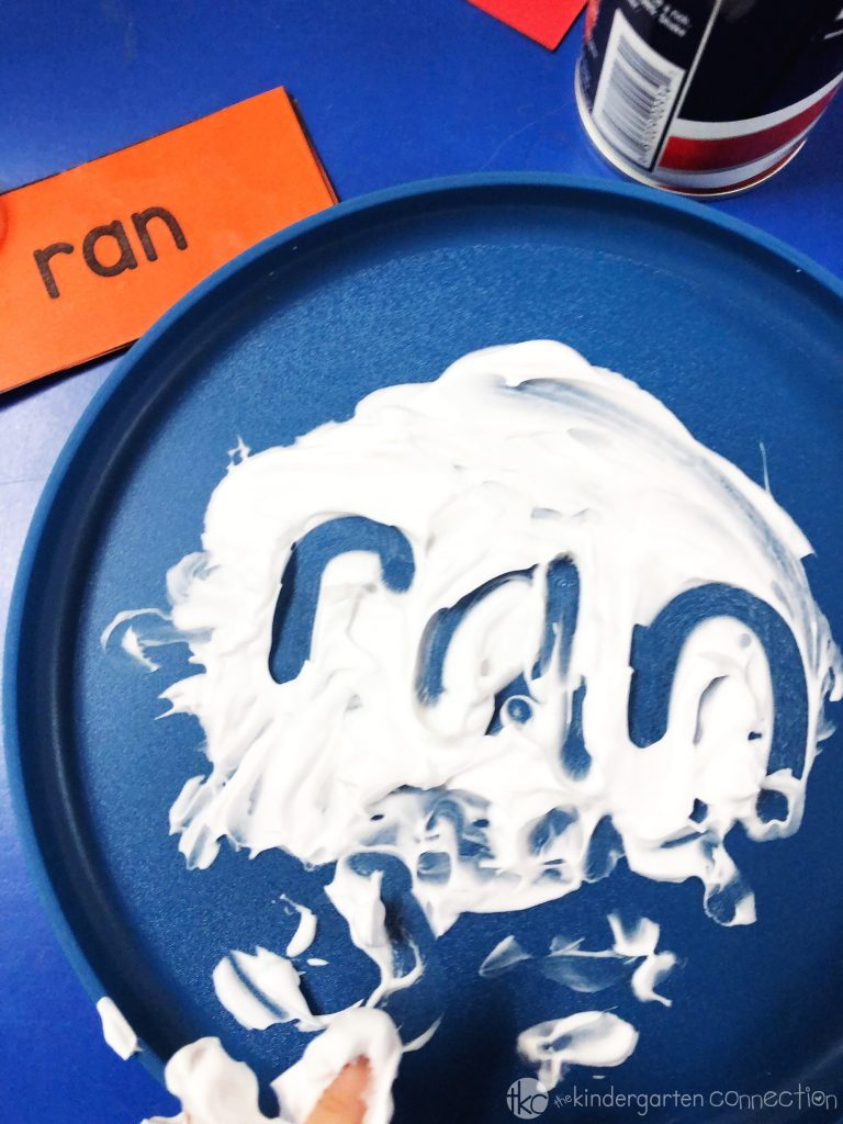 So much fun writing sight words in shaving cream!