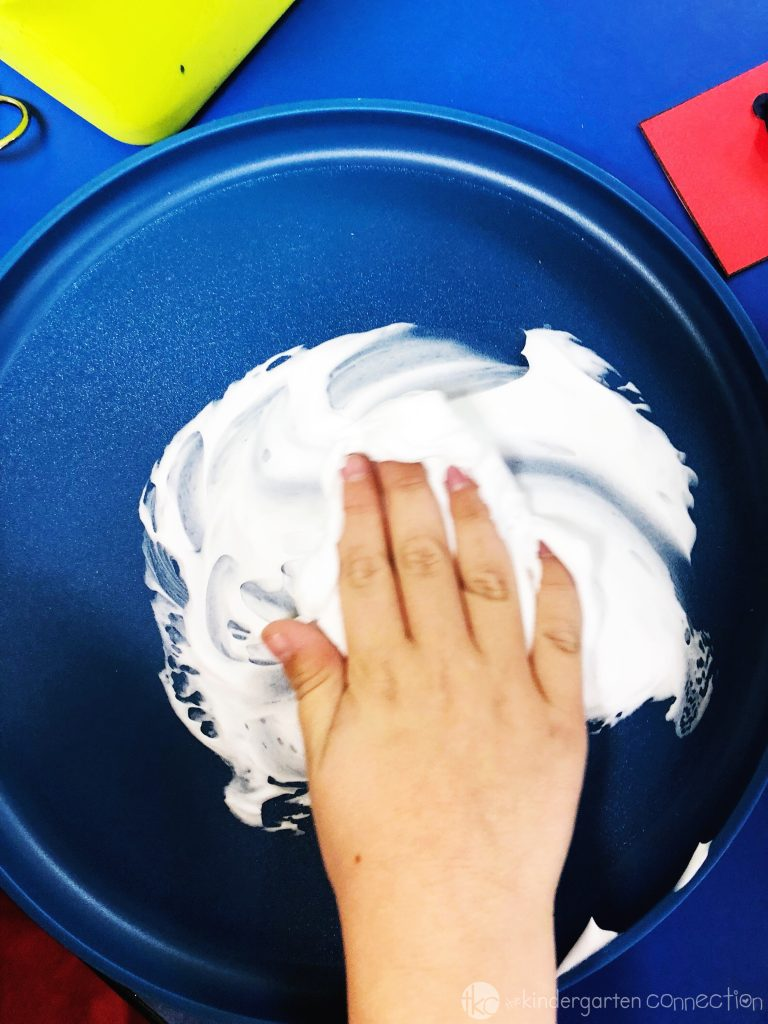 Shaving Cream Sight Words Activity