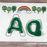 Super Fun Full Alphabet Play Dough Mat For St. Patrick's Day