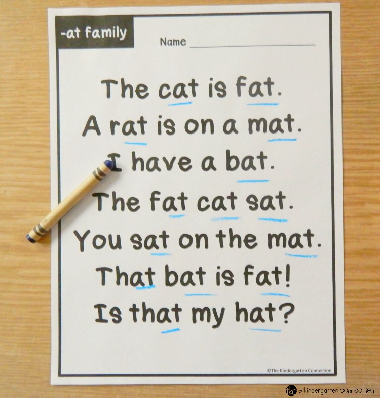 CVC Word Family Fluency Passages The Letters Of Literacy