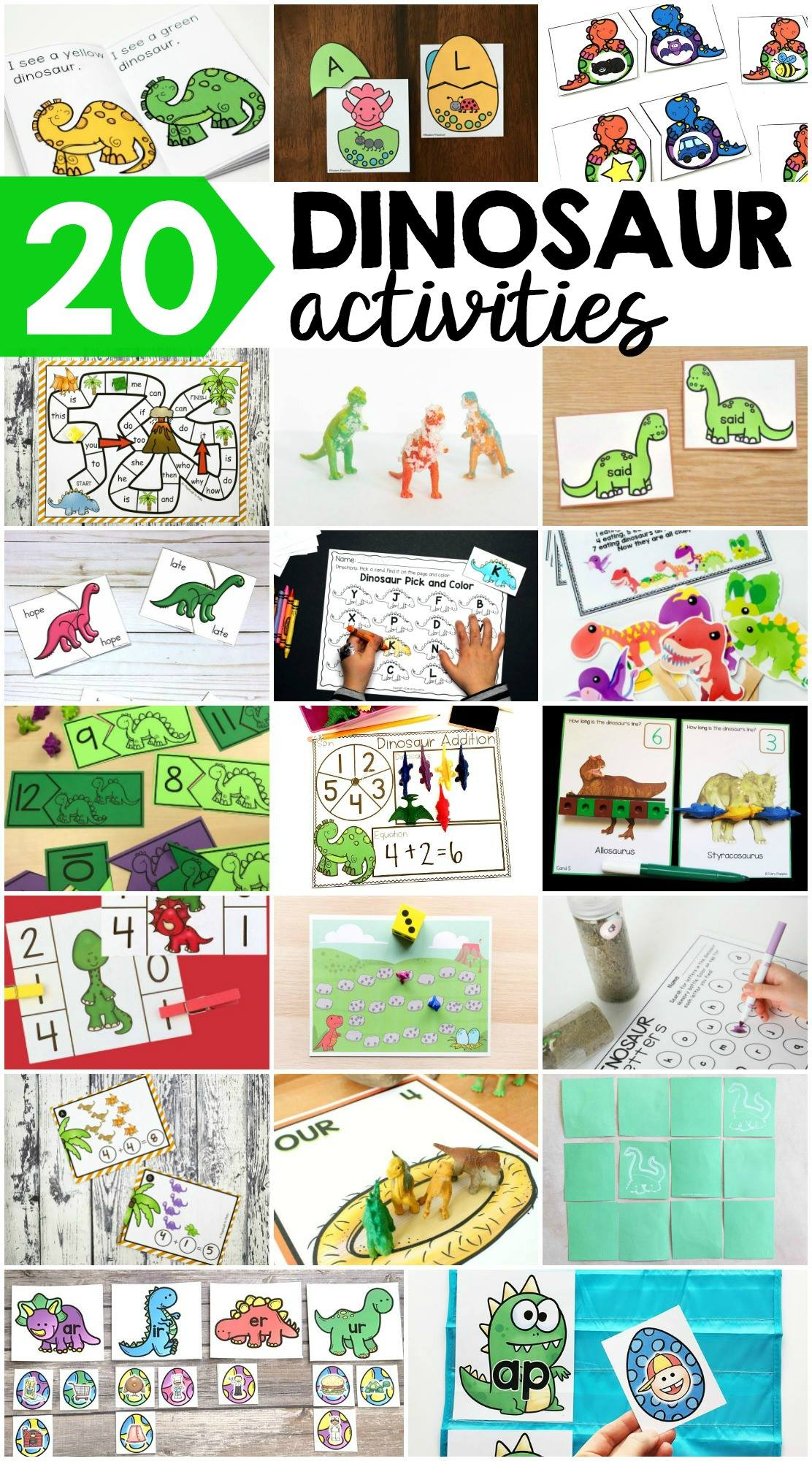 Fun dinosaur activities for kids!