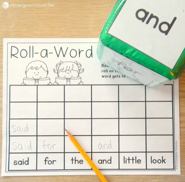editable sight word centers and activities