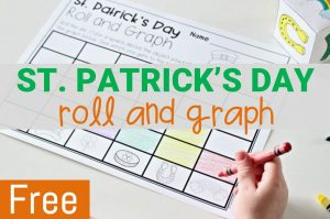 st. patrick's day roll and graph math activity