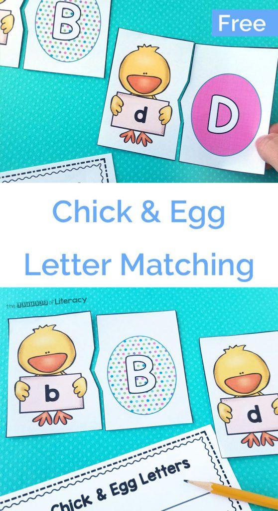 Spring Easter Alphabet Matching Printables for Pre-K and Kindergarten!