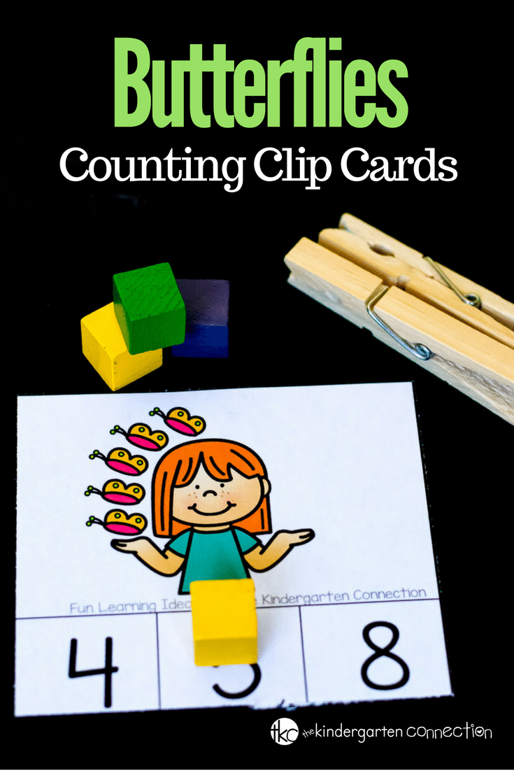 "Grab these FREE Butterfly Counting Clip Cards and place them in your math center for a fun ""counting on"" activity that's ready in an instant!"