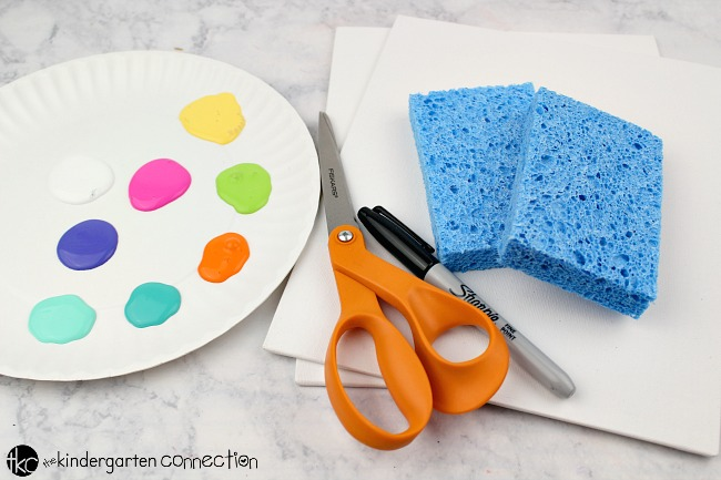Easter Egg Sponge Painting Easter Art