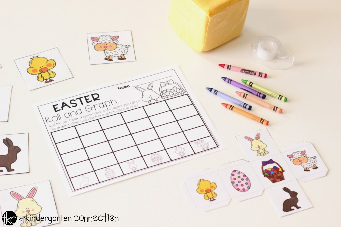 Roll and Graph Free Printable Easter Math Activity