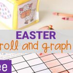 Easter roll and graph Easter Math Activity