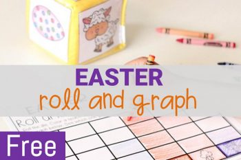 Roll and Graph Easter Math Activity